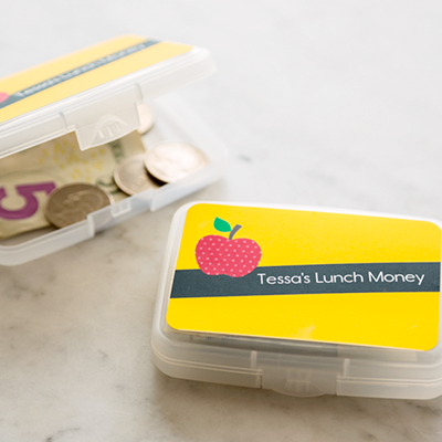keep lunch or field trip money safe and secure with this nifty idea