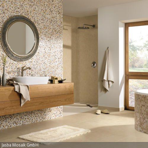 Bad mit natürlichem Strandlook Interiors and House - moderne badezimmermbel