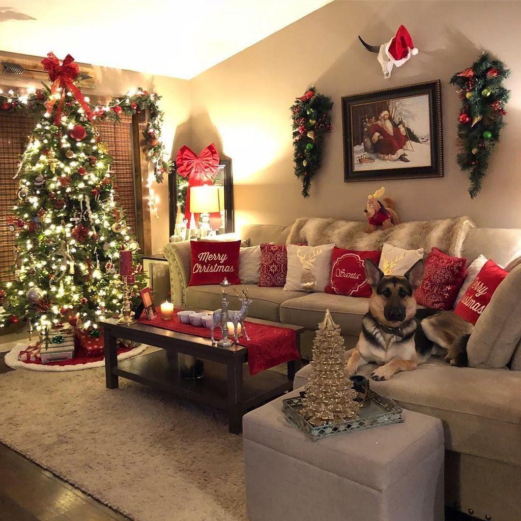 17 Magical Christmas Living Room Decor Ideas To Recreate Christmas Apartment Cozy Christmas Living Room Christmas Decorations Living Room