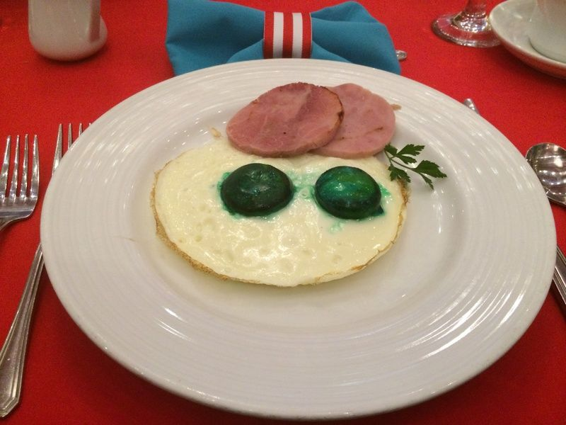 The infamous green eggs and ham at the Seuss brunch to ...