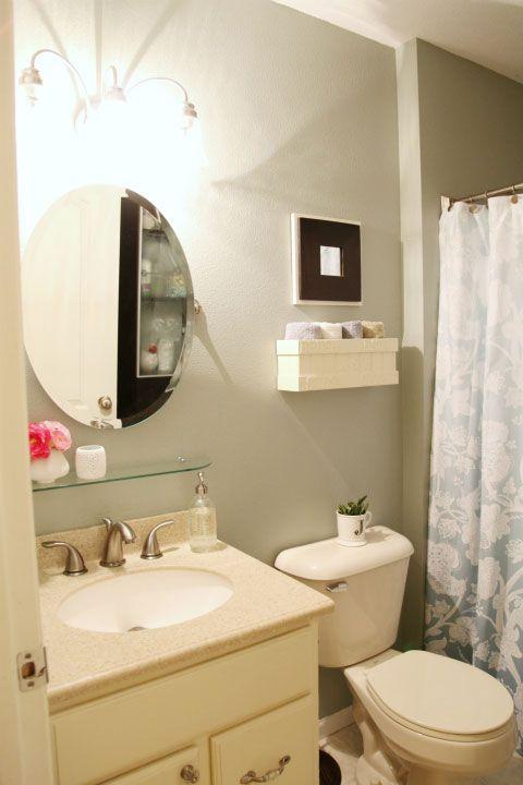 Iheart Organizing Iheart My Home Home Tour Bathroom Refresh Home Shelf Above Sink Organizing newly painted bathroom vanity