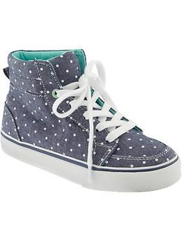 b2ce82a0a99c Girls Printed Canvas High-Tops I ordered these for my 10 yr old daughter