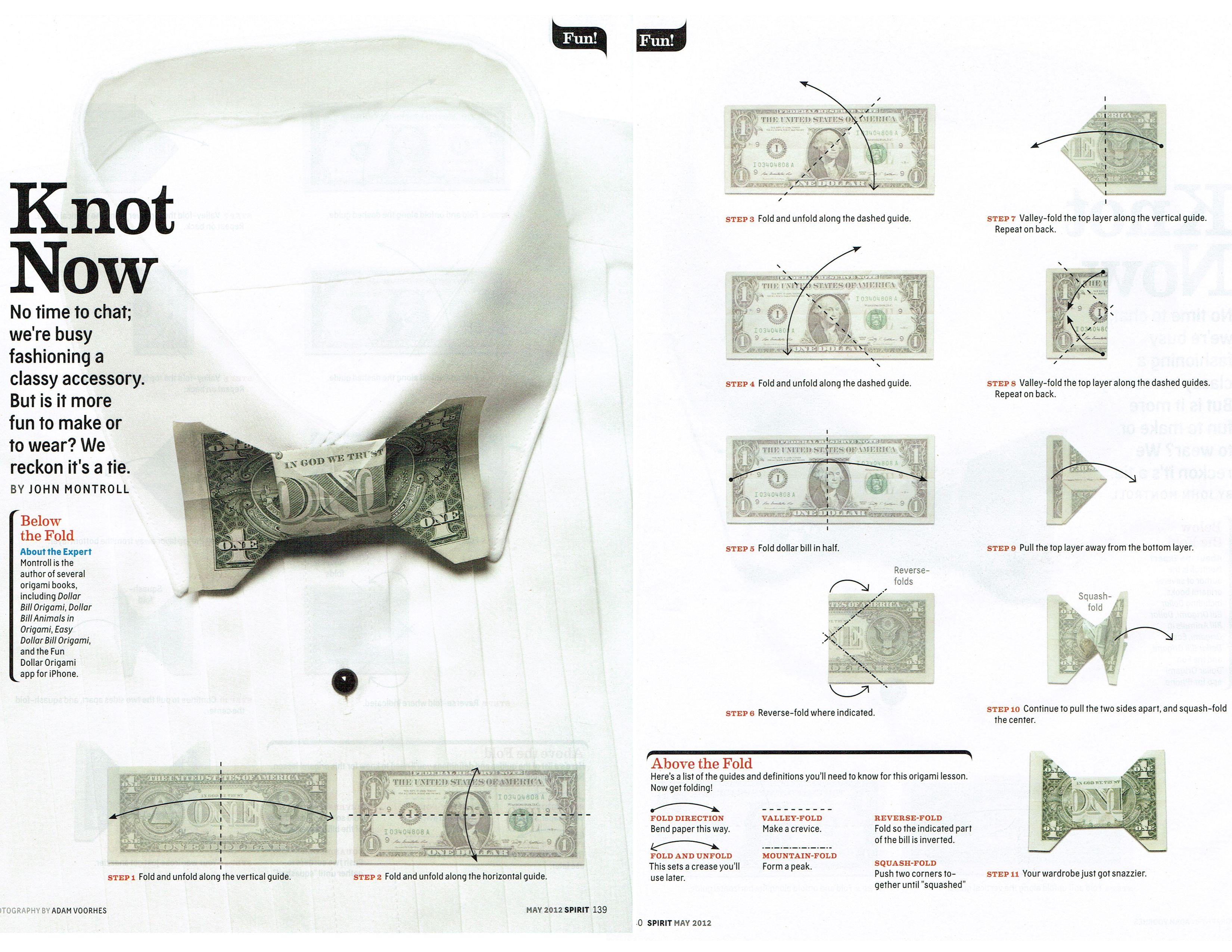 Origami Bow Tie Dollar