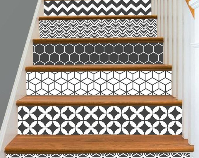 15steps stair riser vinyl strips removable sticker peel for Mattonelle pvc adesive