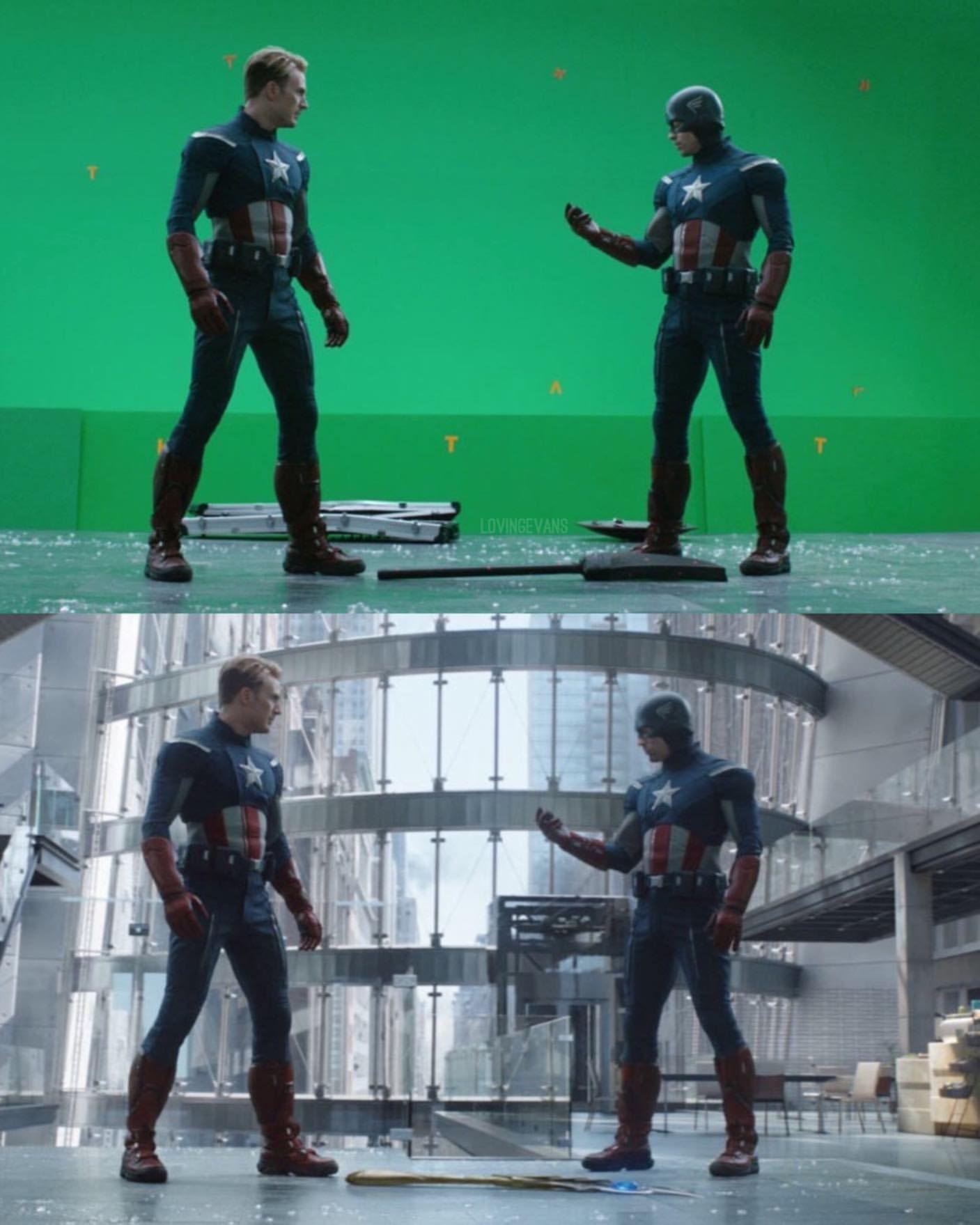Behind the scenes of avengers endgame chrisevans