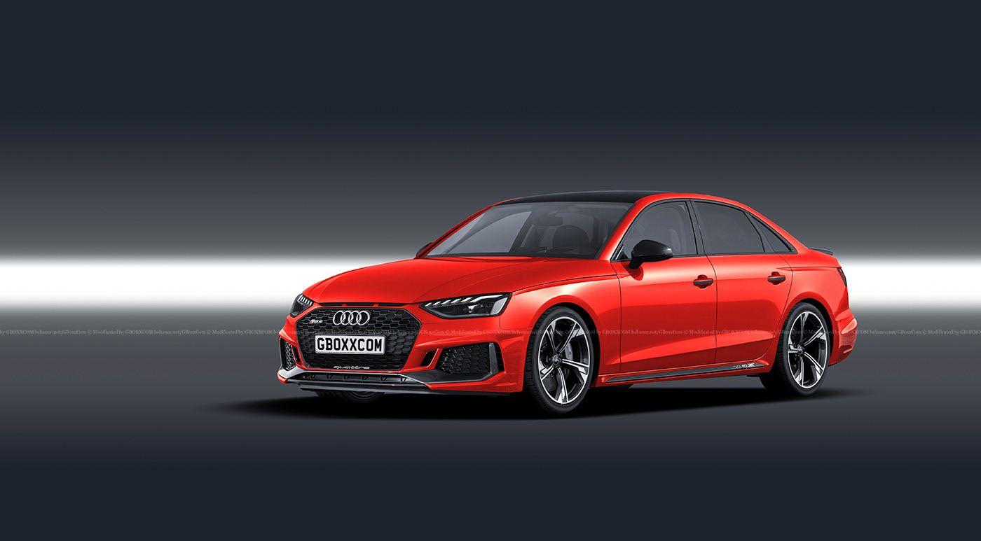 2020 Audi Rs4 Facelift Rendered As A Sedan Audi Rs4 Audi Sedan