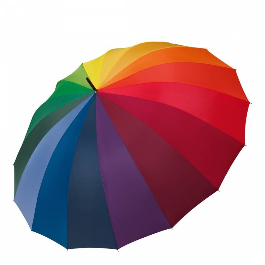 Happy Rain Rainbow Happy Rain Golf Umbrella #golfumbrella Rainbow Happy Rain Golf Umbrella #golfumbrella
