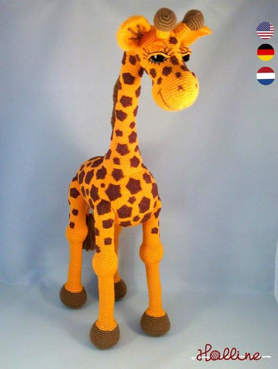 Crochet Pattern Giraffe April Crochet Amigurumi Giraffe English