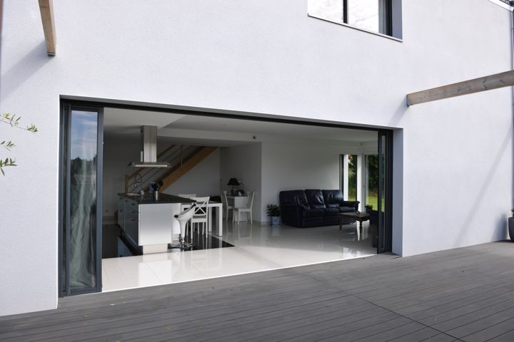 baie vitrée coulissante à galandage peralu | déco - baie vitrée
