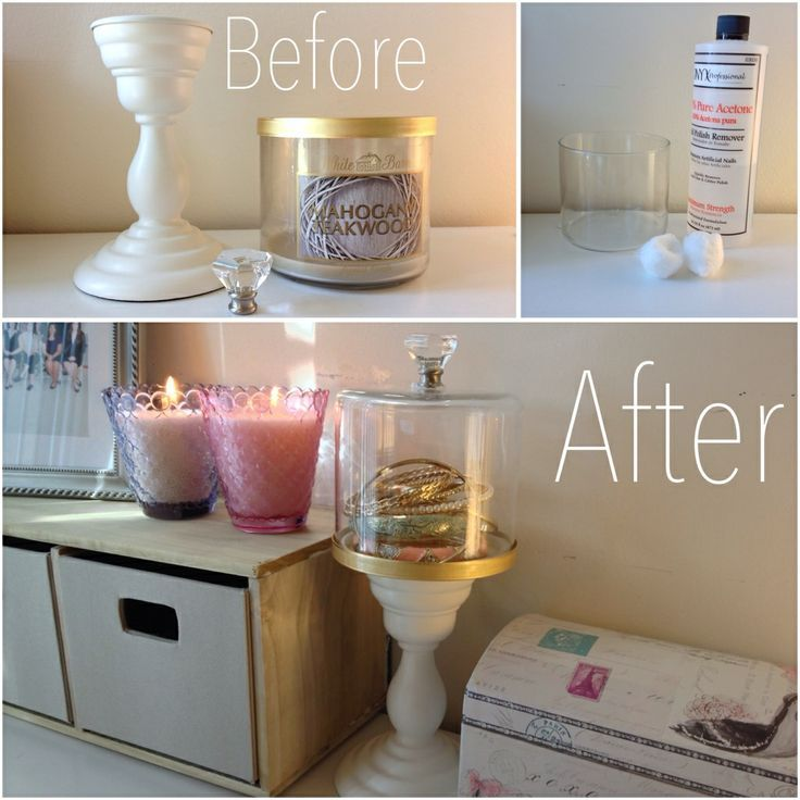 bath and body works cloche candle holder Google Search DIY