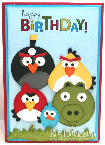 A Bunch Of Angry Birds To Wish You A Happy Birthday Too Cute