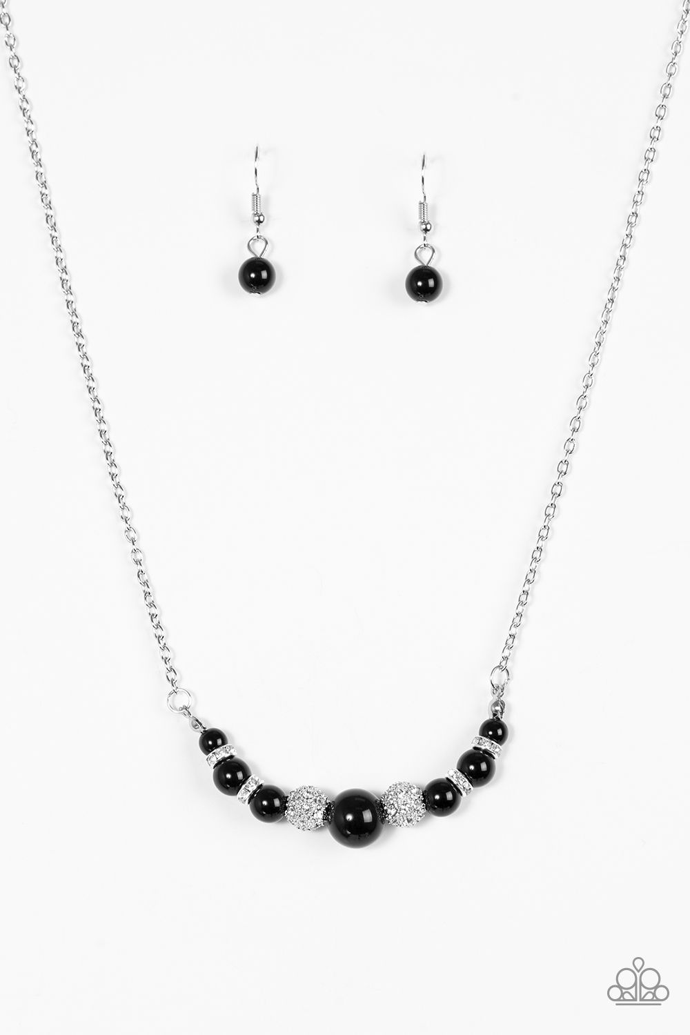 93587d8546f47 Absolutely Brilliant - Black | Necklace and earrings Combination $5 ...