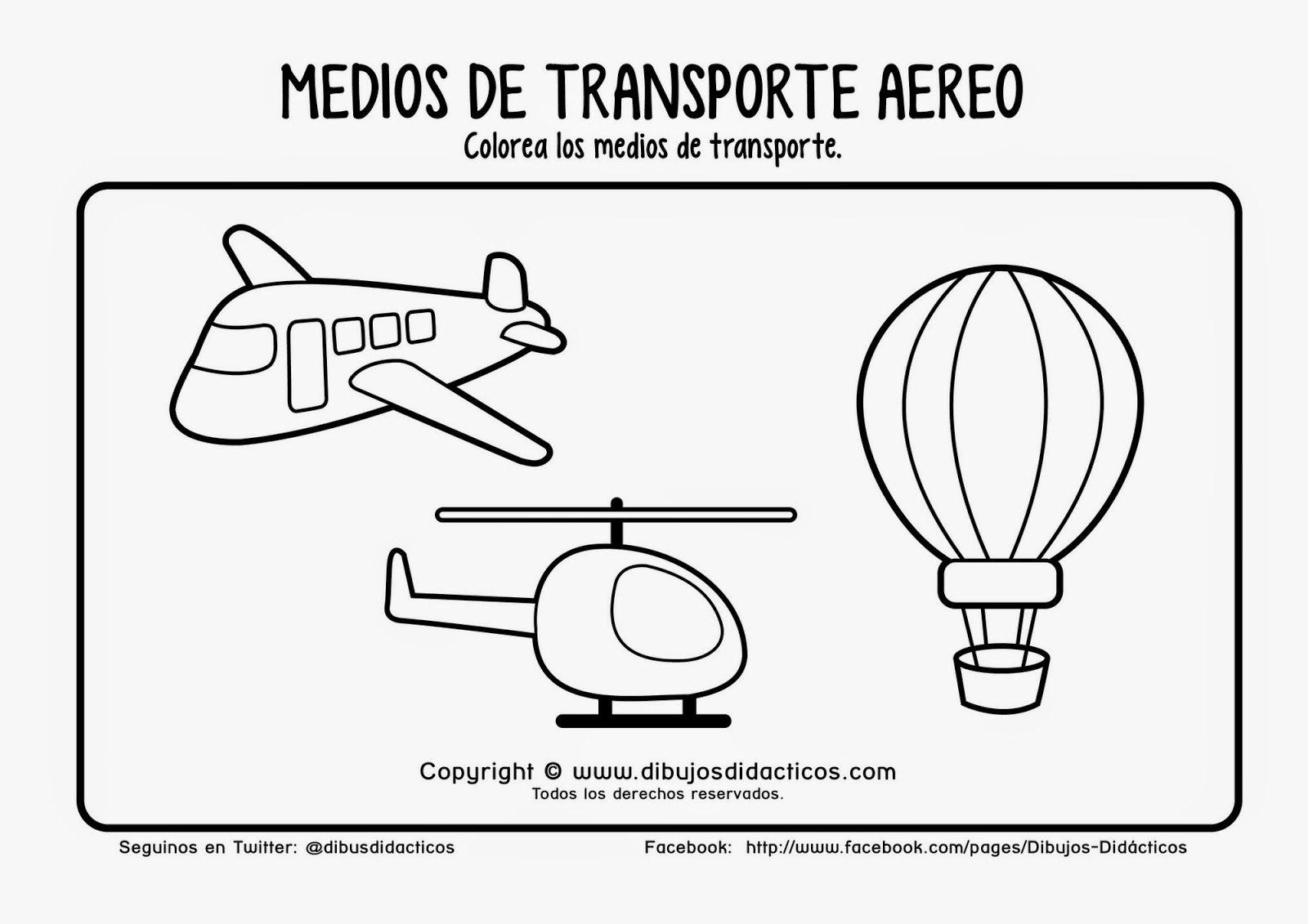 Transportes Por Tierra Para Colorear: Imagenes De Animales Terrestres Acuaticos Y Aereos Para