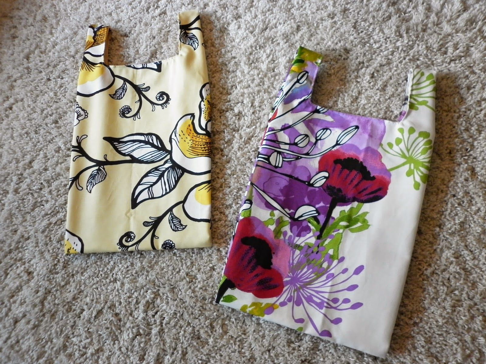 I made some shopping bags with Vallila -fabrics.