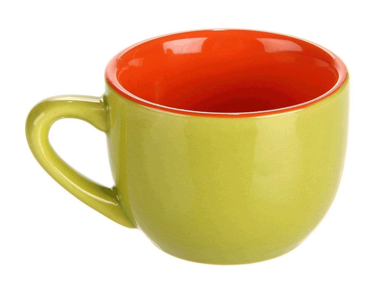 Farbenfrohe Becher Tassen Espresso Tassen Und Untertassen Bunt 6 Stück Kaffee Kaffeetassen Espressotassen E Becher Tassen Tassen Tasse Und Untertasse