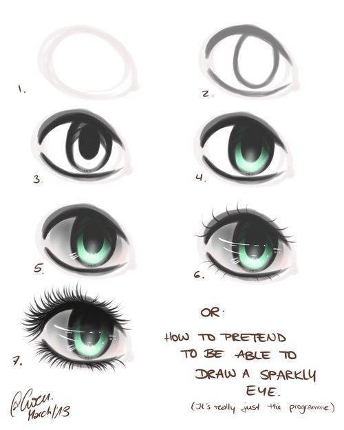 Step by step eye process when drawing digitally or both meh