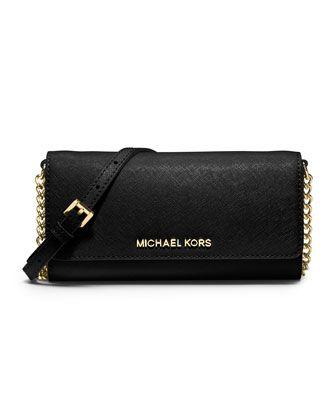3f2ccaea7fcb MICHAEL Michael Kors Jet Set Travel Wallet On A Chain.