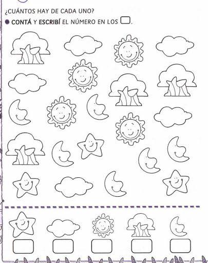pintar y jugar: actividades para preescolar | Lógico matematica ...