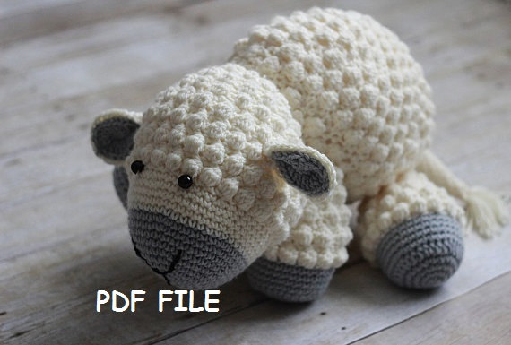 Crochet Pattern Stuffed Lambcrochet Lamb Patternamigurumi Pattern