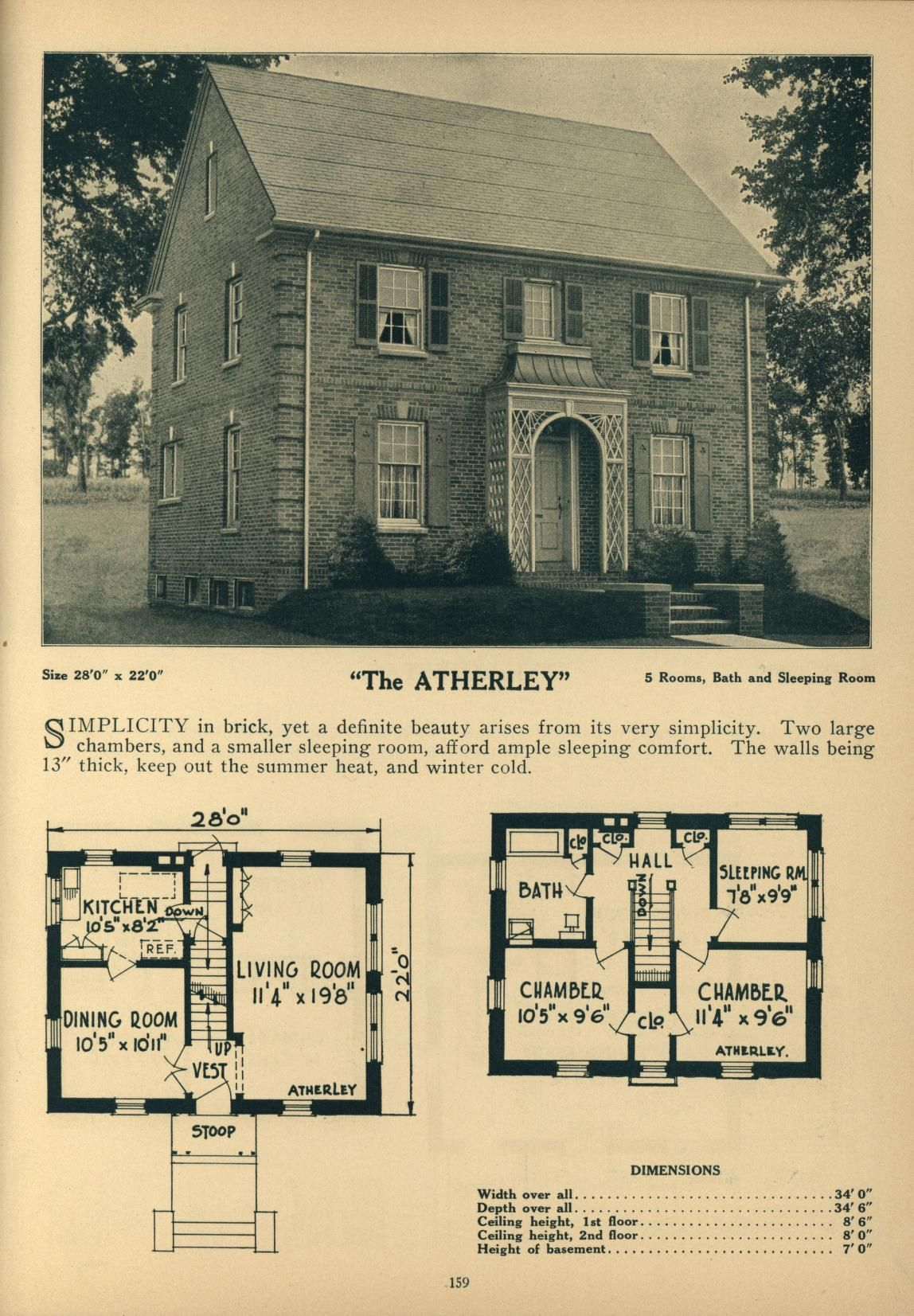 Deyo S Book Of Homes Warren V Deyo Free Download Borrow And Streaming Internet Archive Colonial House Plans Vintage House Plans Cottage Floor Plans