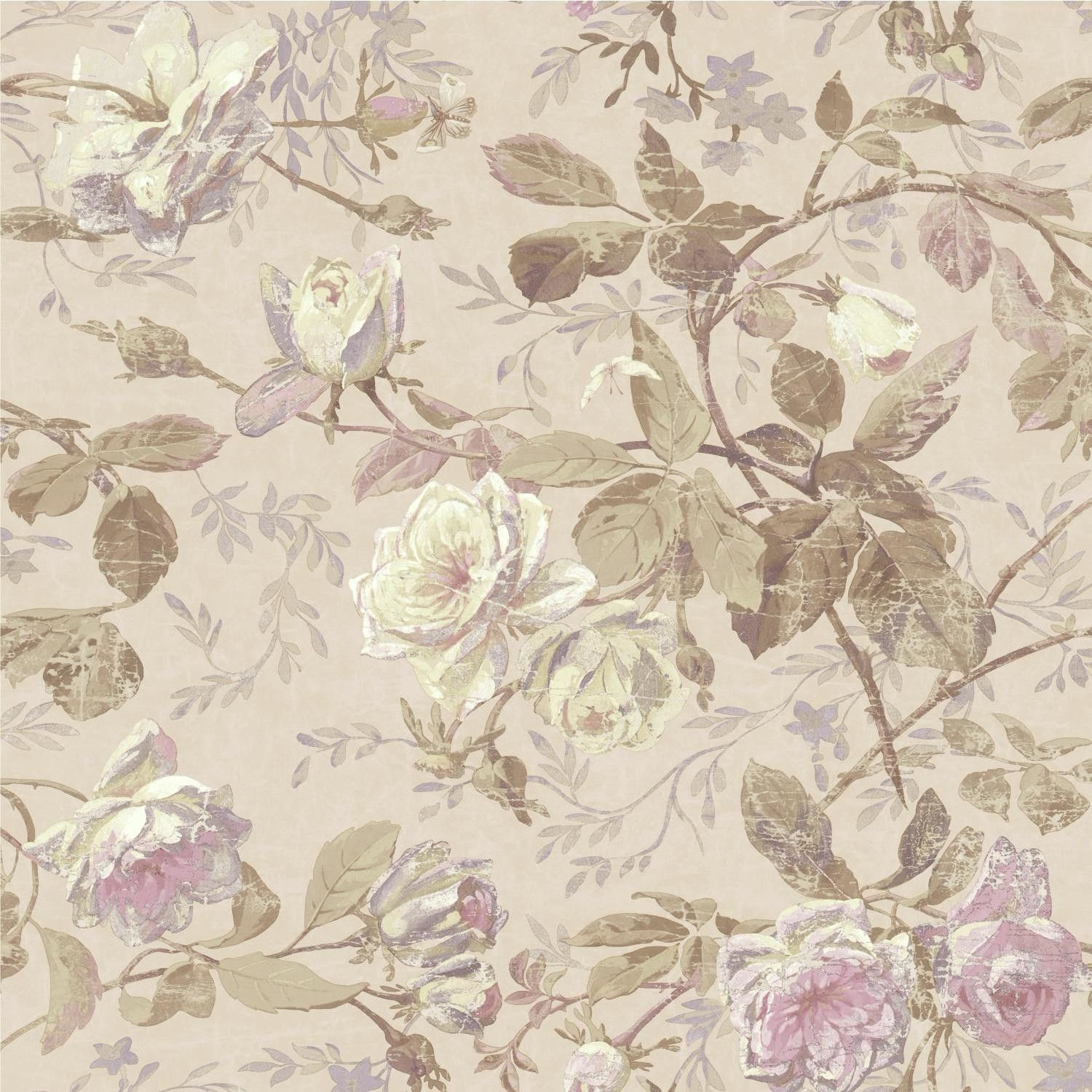 """Luxe 33' x 20.5"""" Floral Medium / Large Roll Wallpaper"""