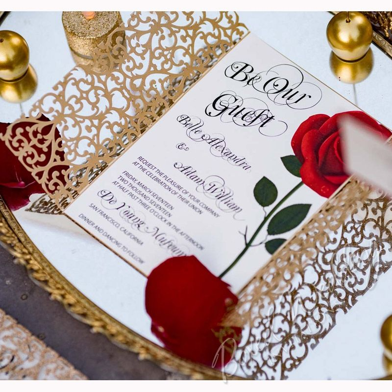 Beauty and the Beast Inspired Invitation