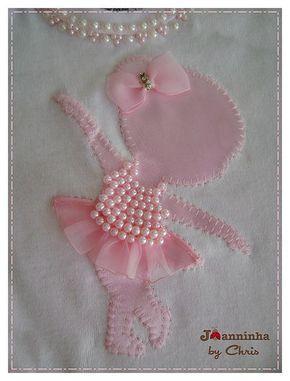 Bailarina Manualidades Decoracion De Camiseta Y Costura De Bebe
