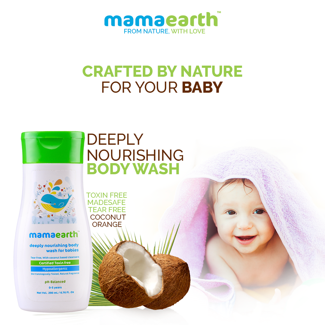 Mamaearth S Nourishing Body Wash Has The Best Ingredients From Nature Like Aloe Vera Which Helps Moisturize And Allan Nourishing Body Baby Skin Care Body Wash