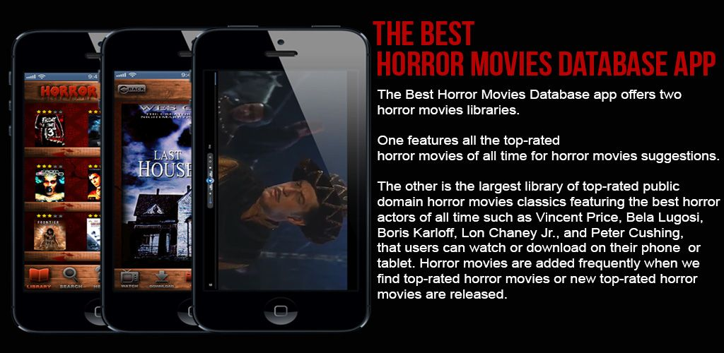 Get The Best Horror Movies Database App FREE on Android