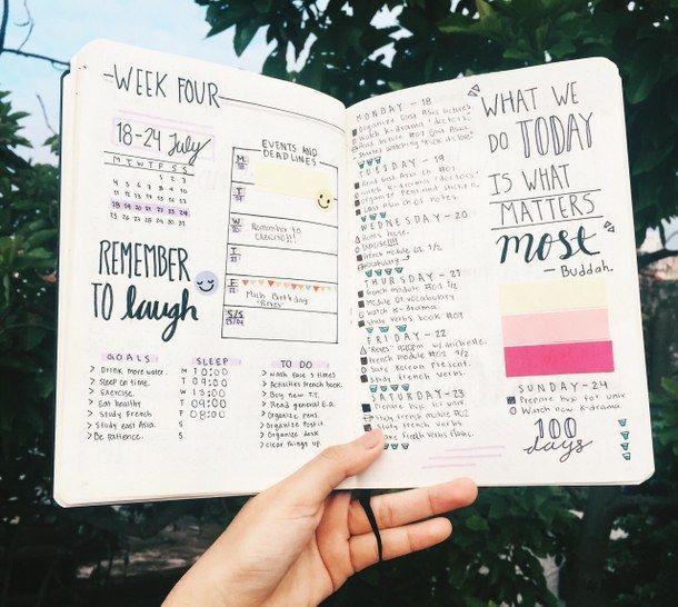 college, ideas, inspo, organised, planner