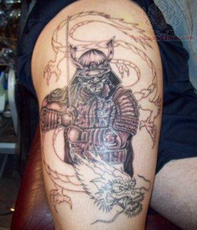 7d4498163 dragon and samurai half sleeve tattoo www.Hoggifts.com | Samurais ...
