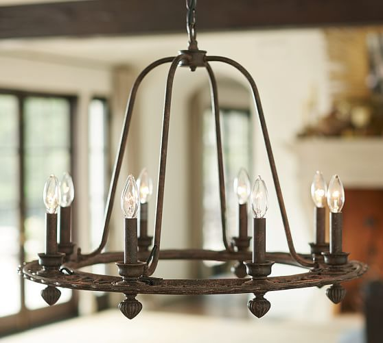 Ornate Iron Ring Chandelier Pottery Barn