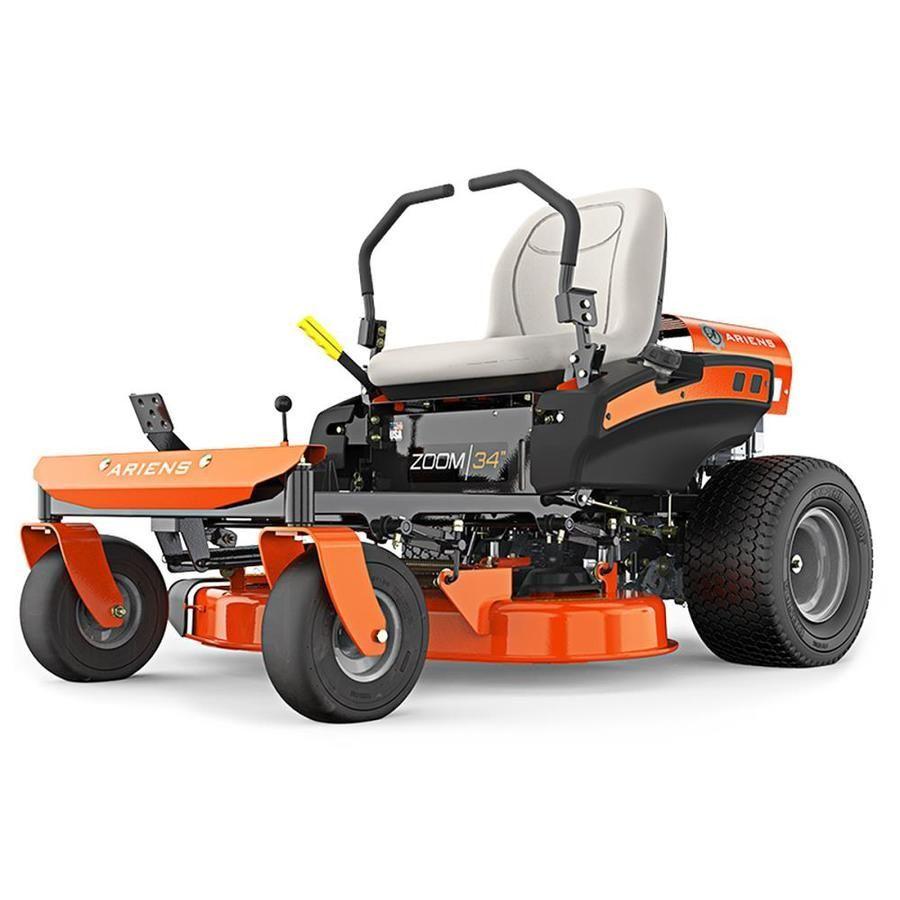 Ariens Zoom 19 Hp V Twin Dual Hydrostatic 34 In Zero Turn Lawn Mower With Mulching Capability Kit Sold Separatel In 2020 Zero Turn Lawn Mowers Lawn Mower Riding Mower