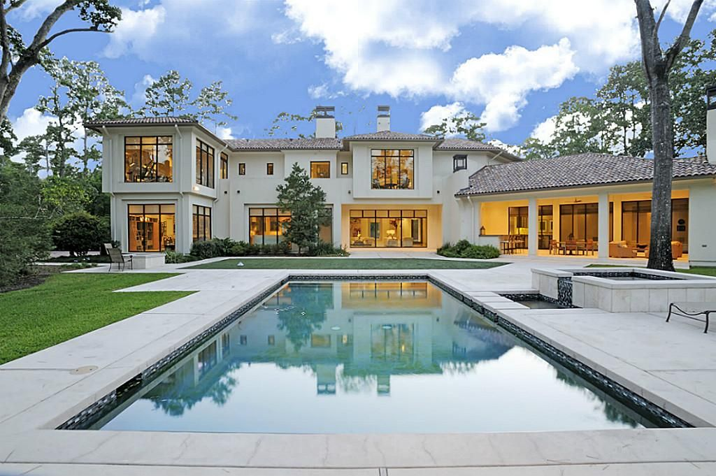 dreamy back view of house