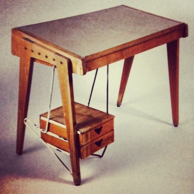 Ico parisi walnut desk for palazzina fago 1958 tabled for Sharon goldreich