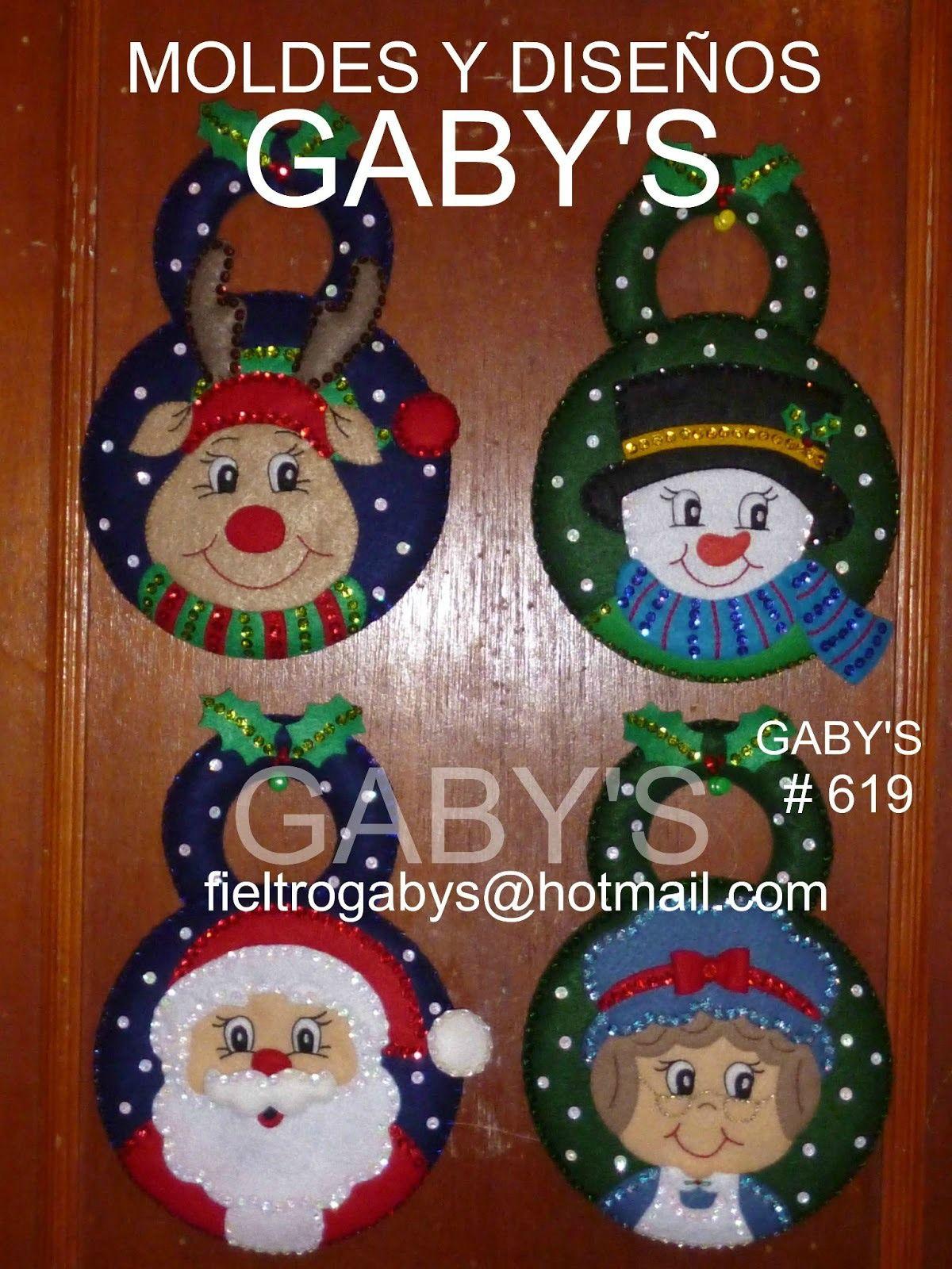 Esferas Picaportes  Navidad     Navidad Felting And