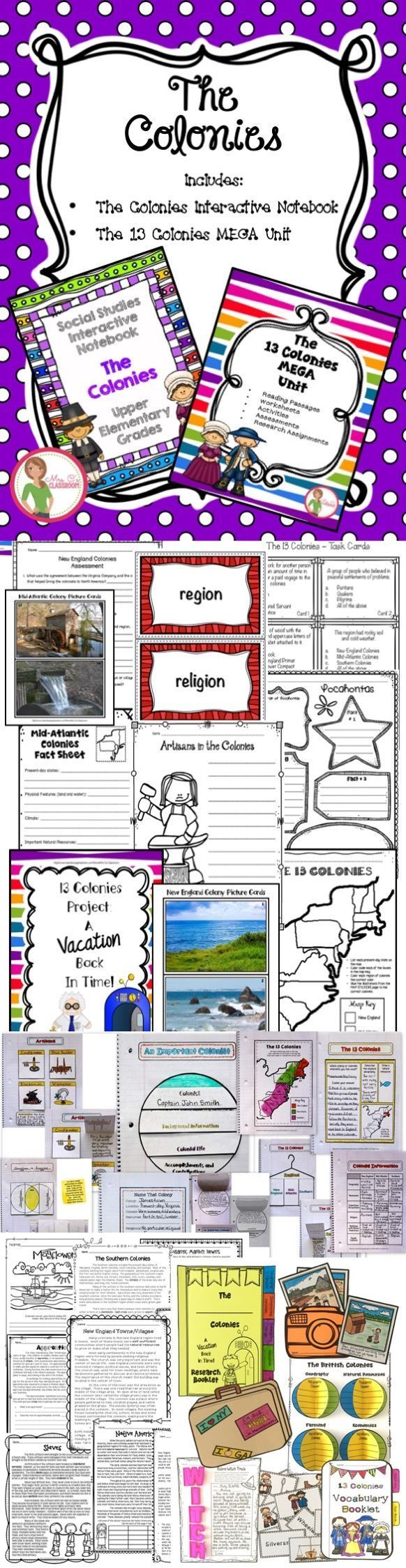 This Huge Bundle Includes Reading Passages Assessments Activities Worksheets Research Interactive Notebooks Interactive Anchor Charts Social Studies Lesson [ 2249 x 582 Pixel ]