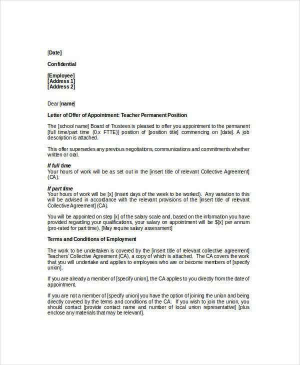appointment letter template examples free amp premium templates - retirement letters