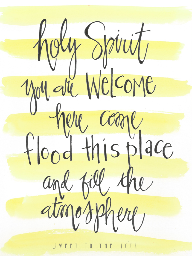 FREE printable - Holy Spirit You are welcome here    from www