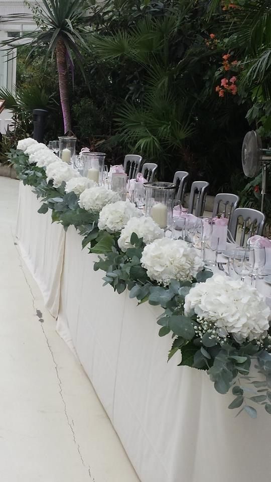 Sefton Park Palm House Wedding Flowers White Hydrangea Bridal