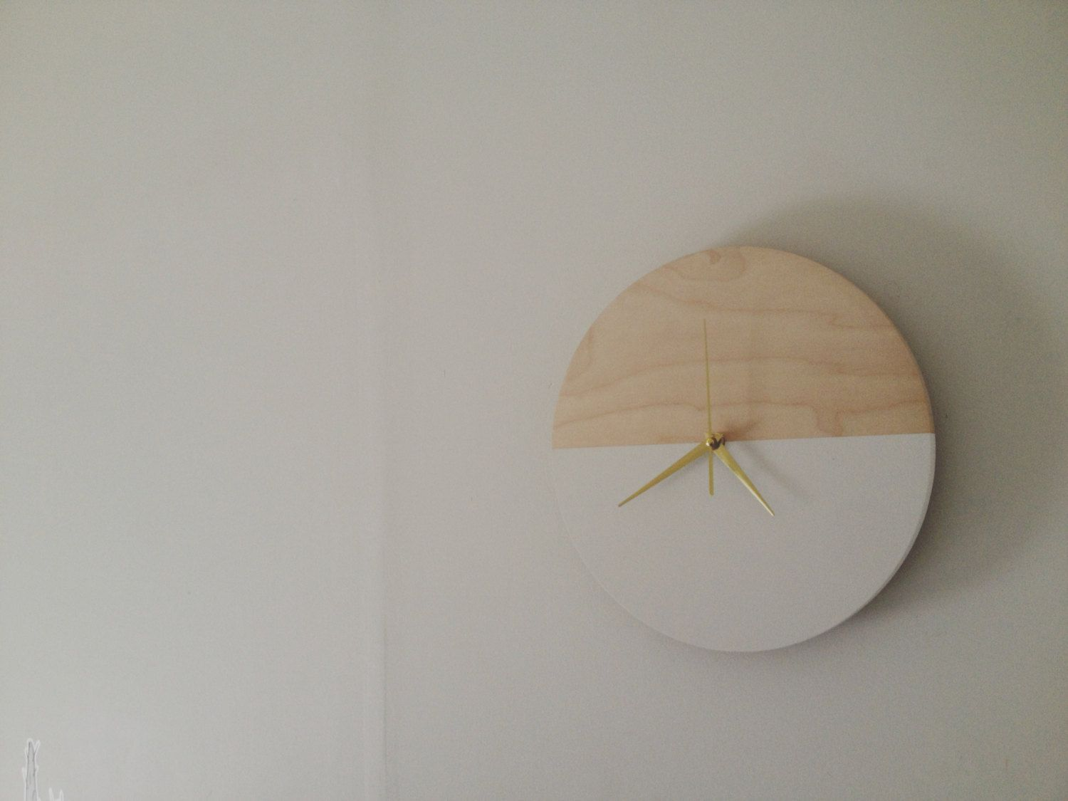 Wooden Wall Clock Minimalist Clock Wall Decor Unique By VITEclocks