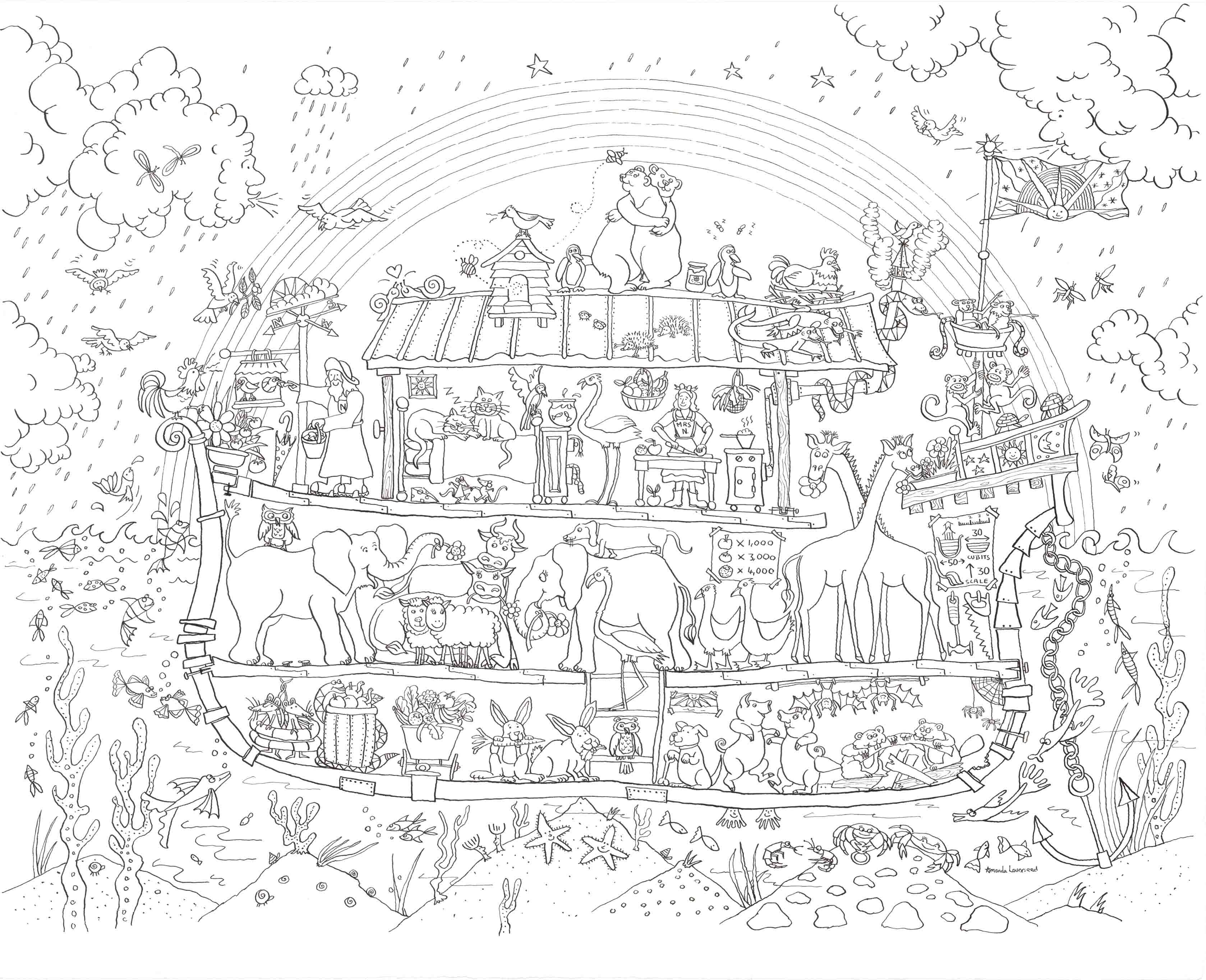 Noah S Ark Coloring Page Christian Coloring Sunday School
