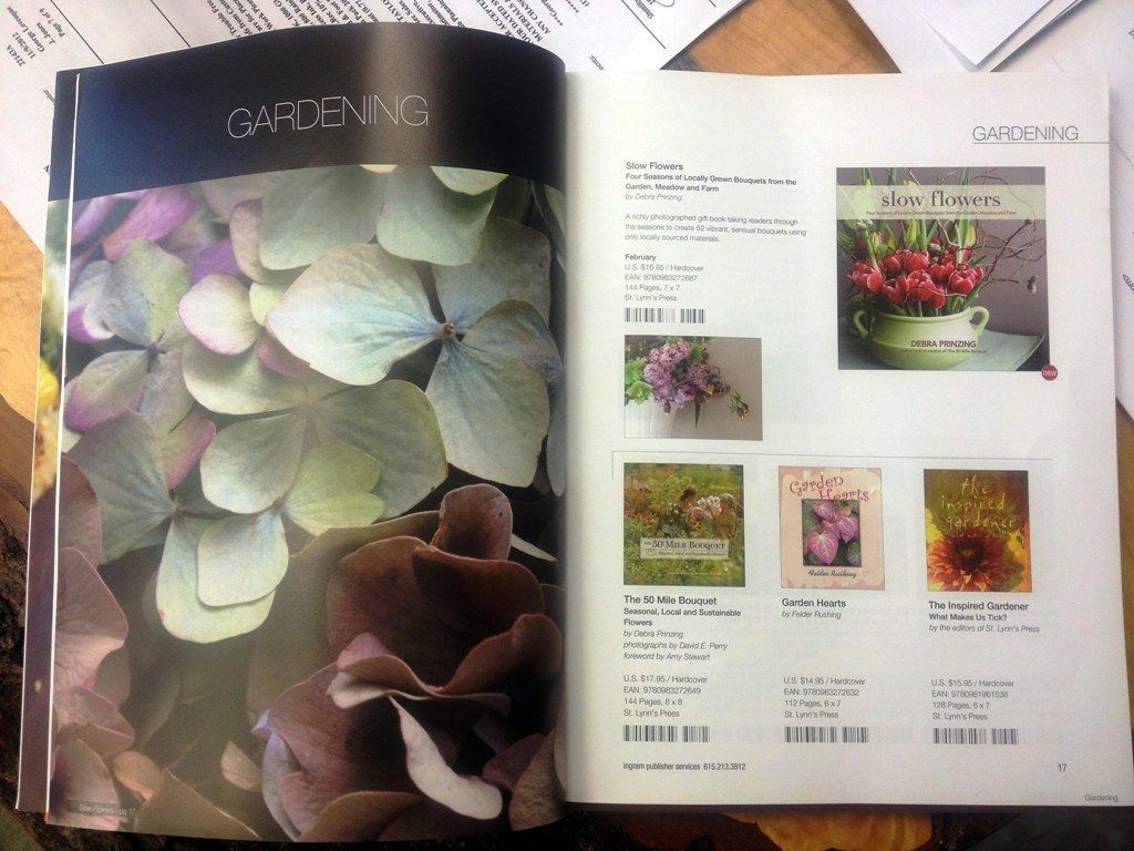 Spring 2013 Sales Catalog Featuring My Hydrangea Photo And Slow