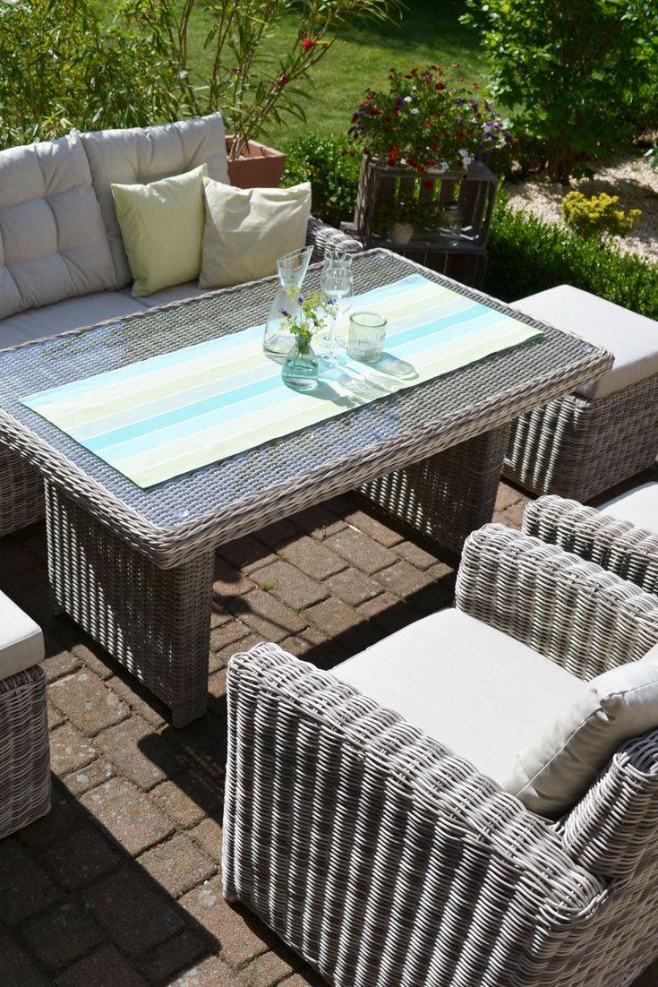 Sofagarnitur Manhattan Sand Grau 3 Sitzer Sofa Tisch 2 Sessel