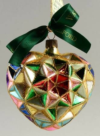 Waterford Christmas Ornaments.Waterford Holiday Heirloom Ornaments Season S Faceted Heart
