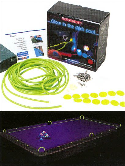 Glow in the dark pool table kit table party and pool table - Glow in the dark table ...