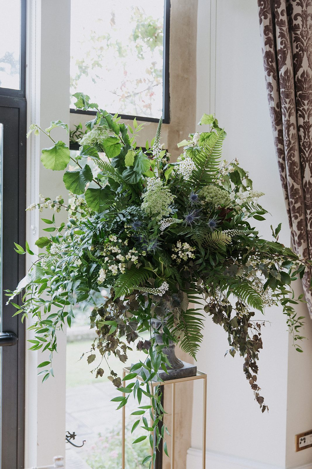 Wild Foliage Urn Arrangement | Ceremony Urn | Old