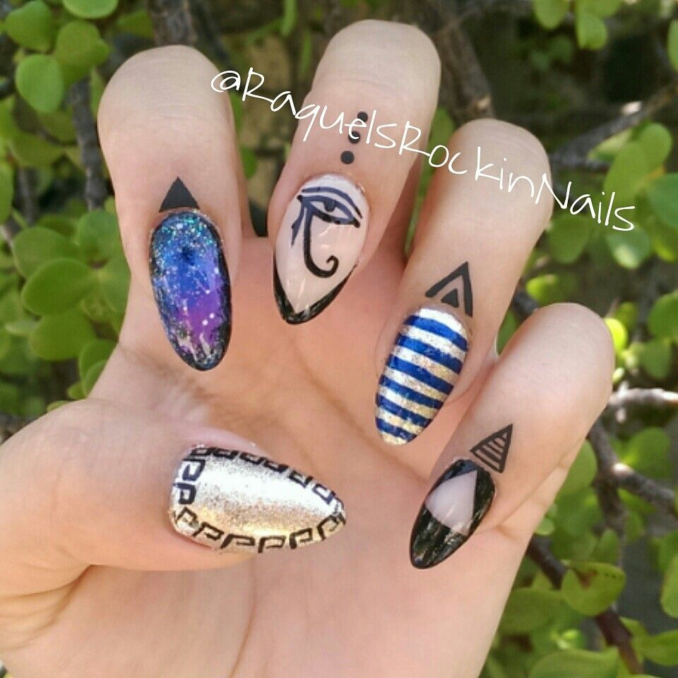 Egyptian Nail Art - Egyptian Nail Art Nails!! Pinterest Egyptian Nails, Nails And