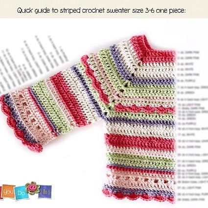 Baby Sweater Crochet Pattern, Instant Download PDF, Striped Baby ...