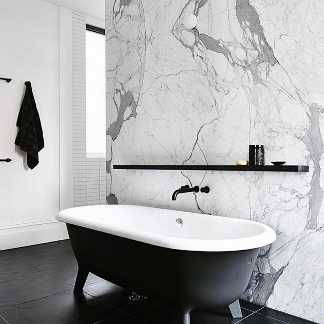 the black and the marble go so well together | «Home sweet home ...